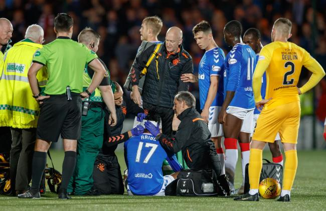 Joe Aribo needed 20 stitches in a head wound after Rangers' win over Livingston