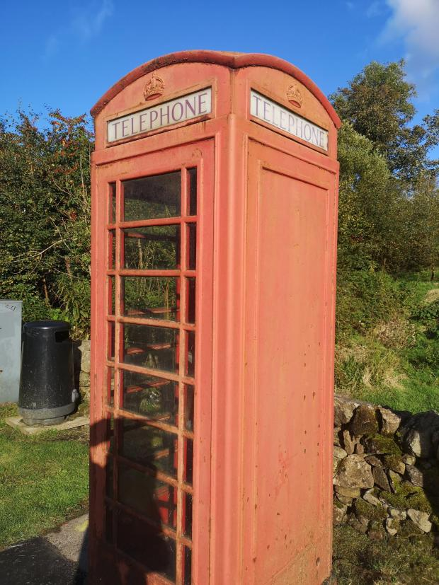 Evening Times: Old phone box outside The Allan Ramsay Hotel, Penicuik