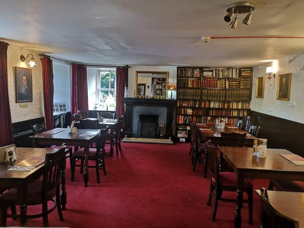 Evening Times: Restaurant area, The Allan Ramsay Hotel, Penicuik