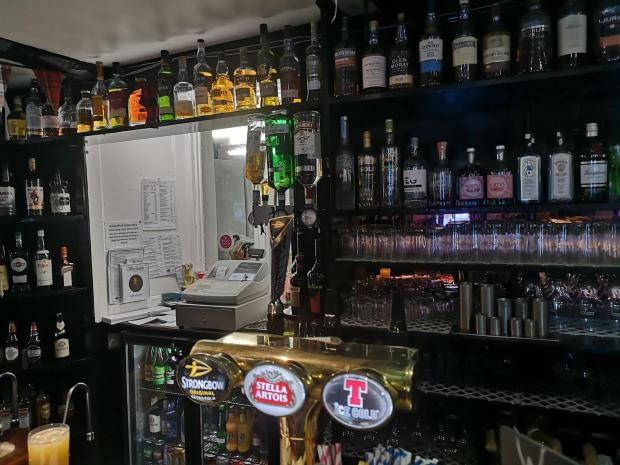 Evening Times: Bar area, The Allan Ramsay Hotel, Penicuik
