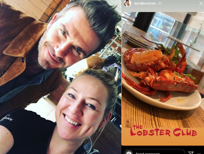 David Beckham in Glasgow as star grabs lunch at popular restaurant