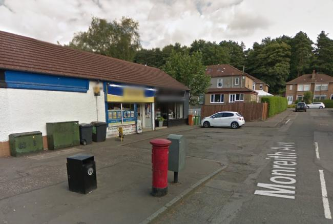 Two men robbed a convenience store on Monreith Avenue in Bearsden