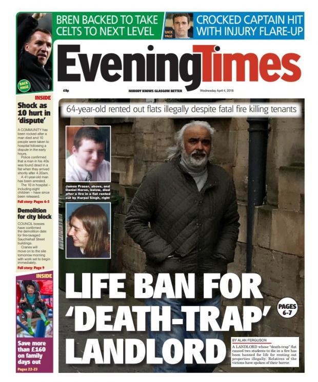 Evening Times: Harpal Singh was banned last year
