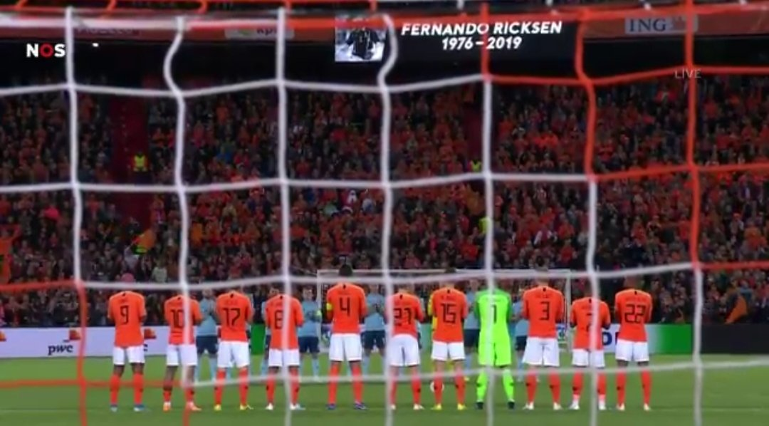 Fernando Ricksen honoured by Netherlands with touching tribute
