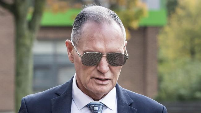 Paul Gascoigne kissed train passenger to 'reassure' her, court told