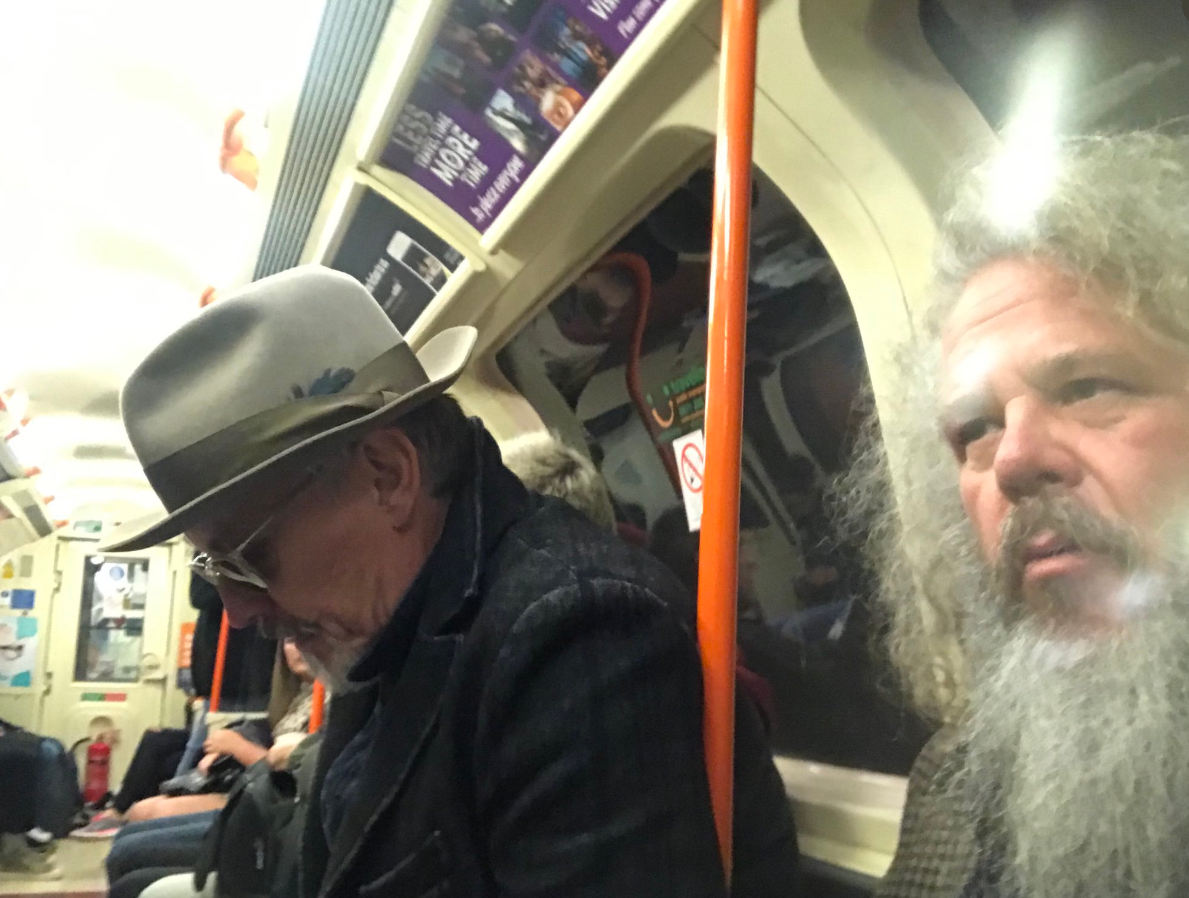 'Happiness is my hometown': Sons of Anarchy actors take a ride on Glasgow subway