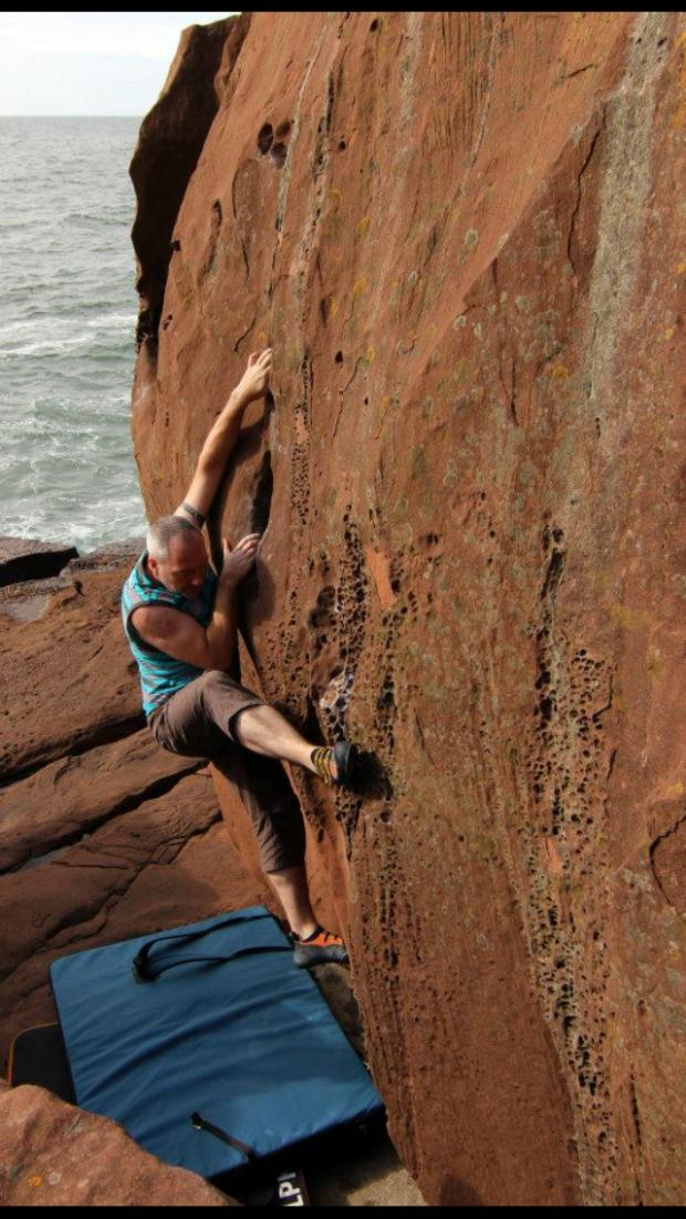 Evening Times: Jay Cramb is a keen rock climber and usually treats patients who have suffered injuries while taking part in extreme sports