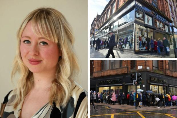 Watt Brothers Store on Glasgow's Sauchiehall Street goes into Administration as staff leave in tears..Kirsty Anderson Newsquest Herald and Times.18/10/19...