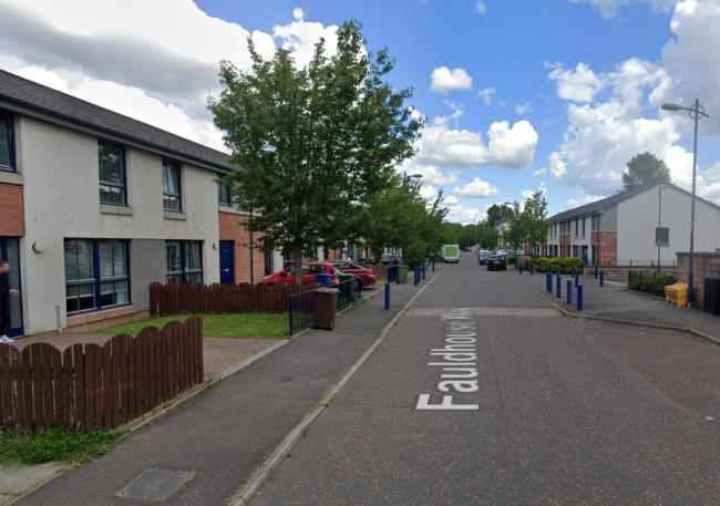 The incident took place on  Fauldhouse Way in the Oatlands area of Glasgow