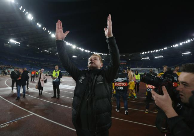 Neil Lennon lauds the Celtic travelling support after the historic win over Lazio.