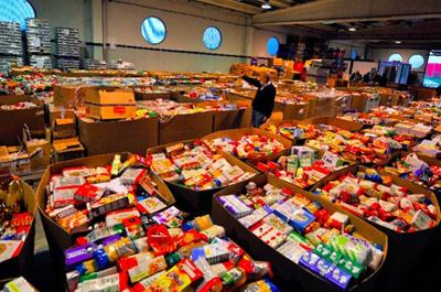 An archive picture of a food bank. Stock at the Glasgow City Mission is running low.