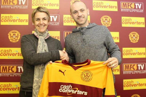 James McFadden is welcomed back to the club by chief executive Lee-Ann Dempster