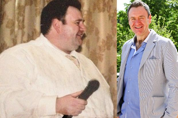 Thomas McIntyre, before and after. Picture: Slimming World