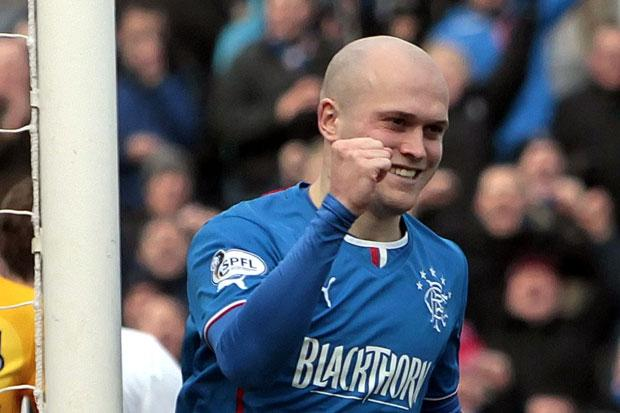 Rangers' Nicky Law celebrates his goal