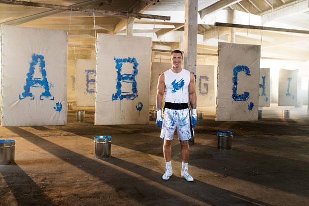 Boxer Klitschko has designed a new alphabet - using the full power of his 12-and-a-half inch fists.