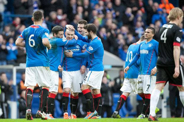 Rangers 2 Dunfermline 0: newly-crowned champs wrap up another win