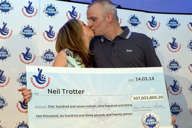 One day we're going to be millionaires: south Londoner Neil Trotter unveiled as £108m Euromillions winner