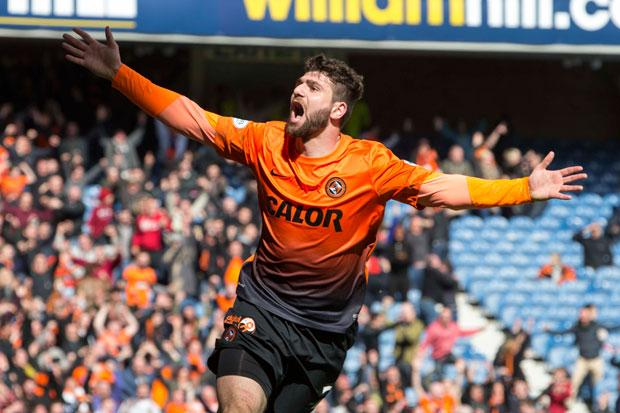 Dundee United's Nadir Ciftci celebrates his goal