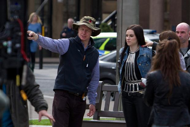 In pictures: Singer Amy MacDonald films in George Square for the Games