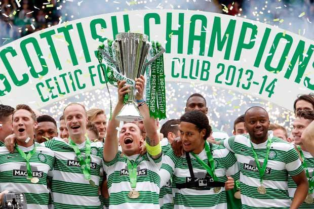 Celtic 3 Dundee Utd 1: Celtic confirm champion status with United win and take home the trophy