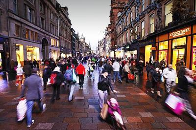 Retail sales in Scotland show annual increase