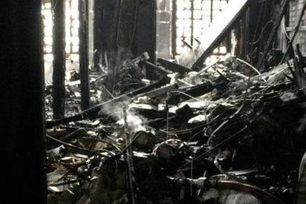 The iconic library was gutted by the fire.