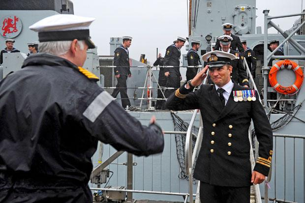 Families welcome back Royal Navy crew at Faslane after 8 months at sea