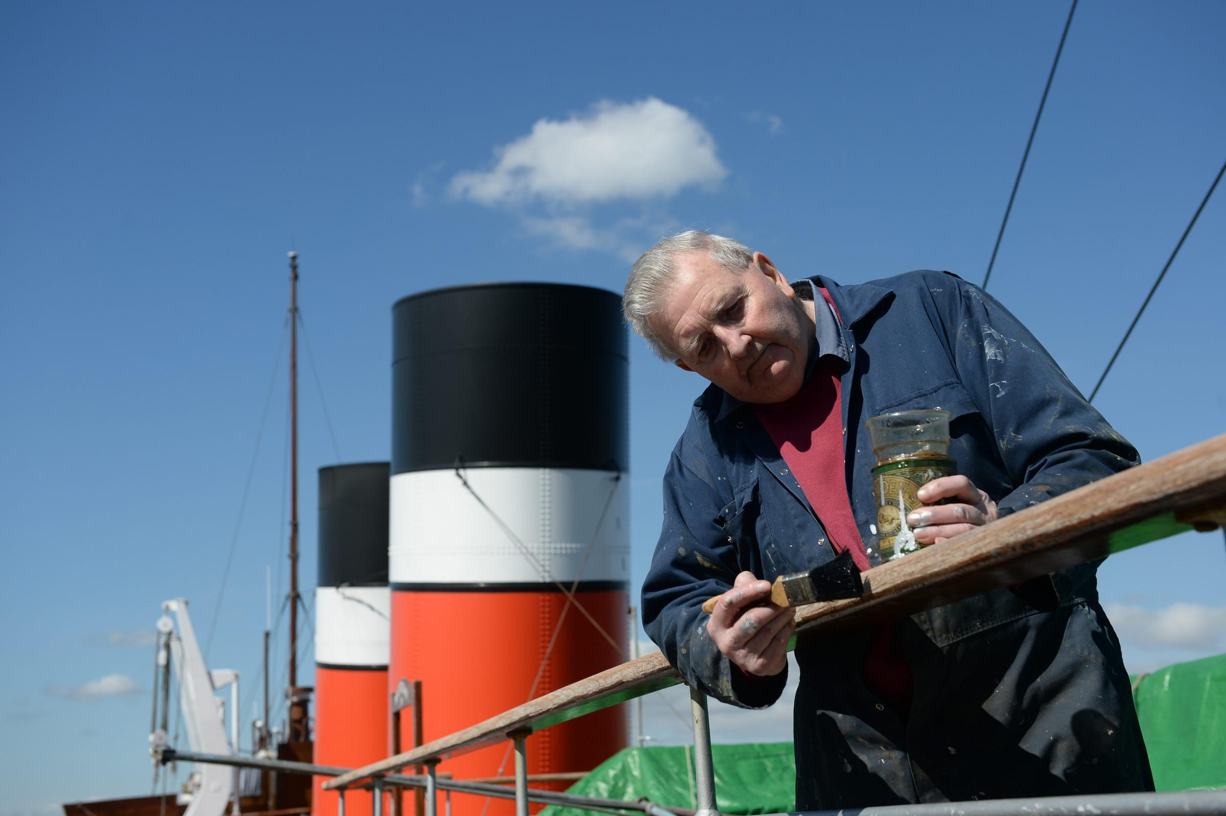 Volunteer Gordon Johnstone 83, has been helping keep the Waverley shipshape for seven years