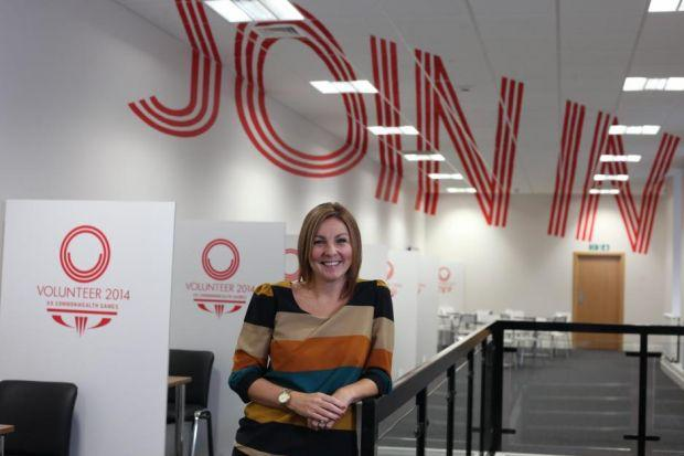 Glasgow 2014 head of volunteering Val Mitchell, in the new Merchant City office