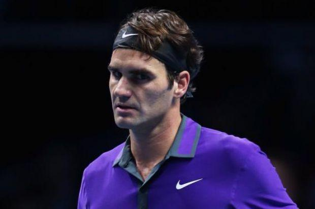 n Roger Federer was in happy mood after his victory against Janko Tipsarevic in London