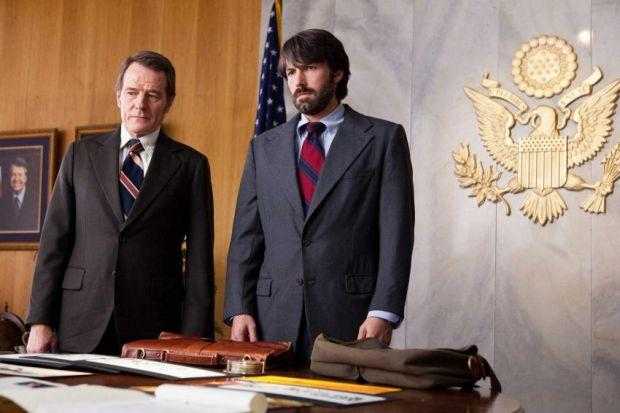 n Bryan Cranston and Ben Affleck play CIA spooks in the highly entertaining Argo