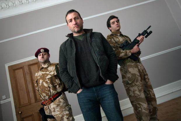 Harry Ward, left, Michael Nardone and Dan Boyd, right, are appearing  in Operation Phantom Fury