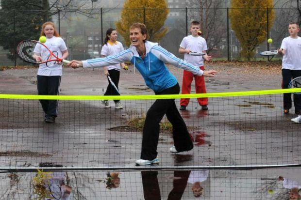 Judy Murray has been putting young tennis fans through their paces