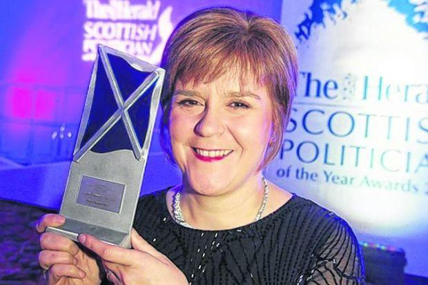 Scotland's Politician Of The Year Nicola Sturgeon