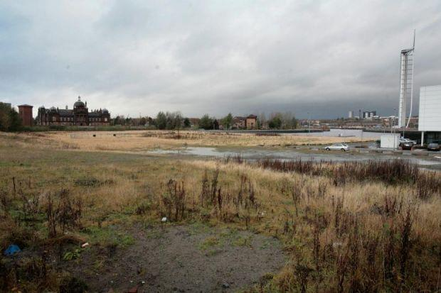 n The land near the Science Centre that could be home to a film studio. Picture: Marc Turner