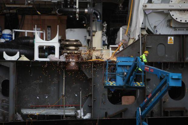 Welding work at BAE Govan, one of the yards under threat