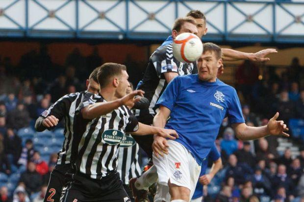 Kevin Kyle scored his first goal at Ibrox