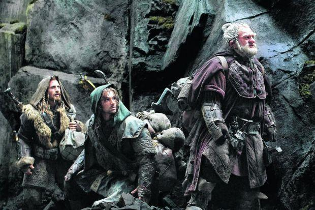 The dwarf heroes -- including Dean O'Gorman as Fili, Aidan Turner as Kili, and Mark Hadlow as Dori -- may be short, but the movie certainly isn't!