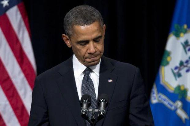 President Barack Obama spoke at the vigil for victims' families