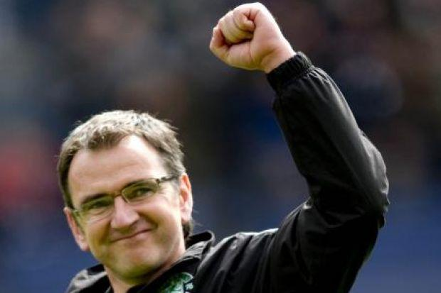 Pat Fenlon was delighted with Hibs' success against Celtic