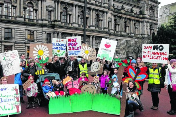 Protesters plan to be in George Square every day in a bid to stop the development