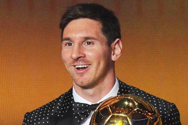 Lionel Messi has every reason to smile