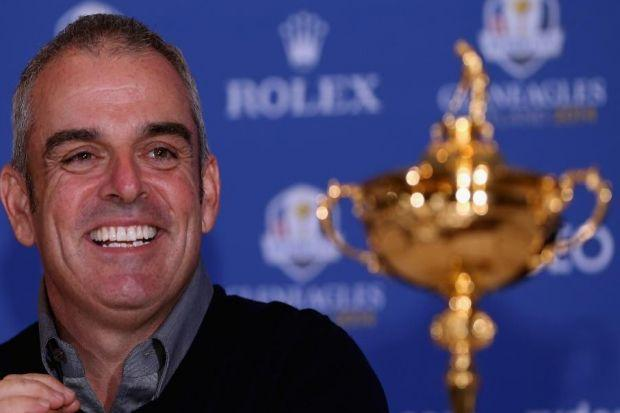 n Paul McGinley got his hands on the Ryder Cup in Abu Dhabi