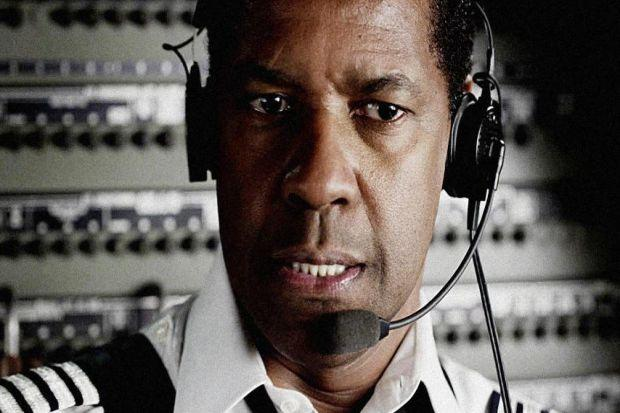 Denzel Washington's at the top of his game as a hero pilot who faces prison after a crash