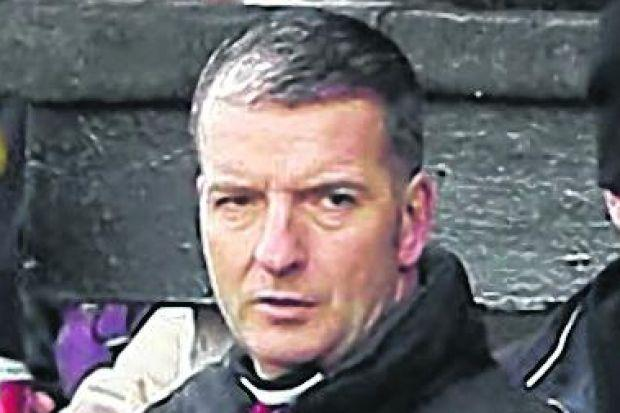 Alan Cotton took his place in the Pollok dugout during the win over Beith