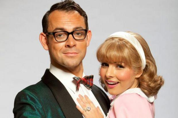 Roxanne Pallett stars as Janet and Ben Forster as Brad in The Rocky Horror Show