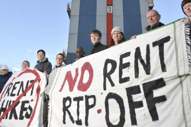 Queens Cross residents say the rent rise isn't justified by improvements