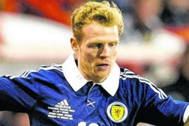 Chris Burke made his first Scotland appearance for seven years in the win over Estonia