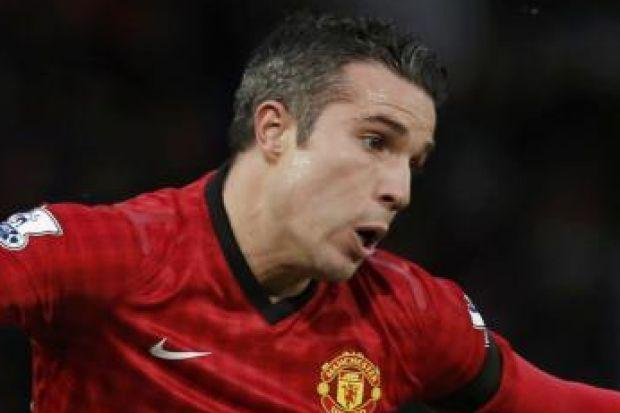 Robin van Persie scored the second United goal
