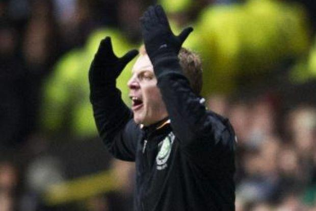 Neil Lennon shows his frustration during Tuesday's 3-0 defeat to Juventus